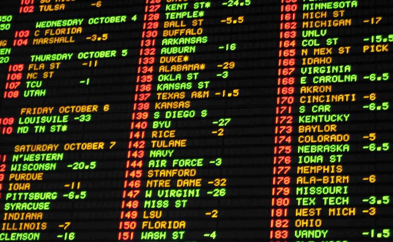 Papan taruhan peluang sepak bola di sportsbook kasino