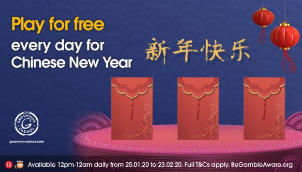 Chinese New Year Grosvenor Casinos Promotion