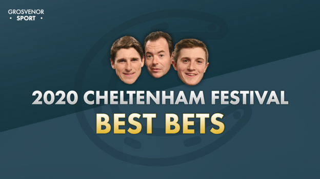 Nick Luck, Harry Skelton and Harry Derham on the Preview night - Cheltenham 2020 - Grosvenor Sport
