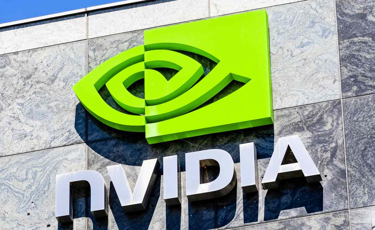 NVIDIA logo outside their office building