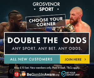Double the odds banner