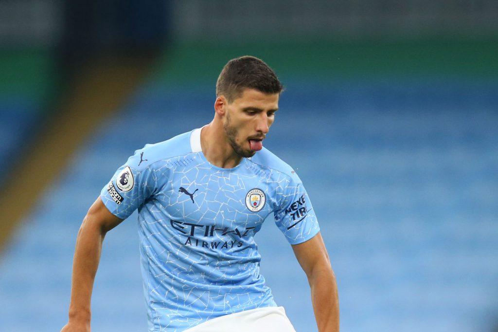 Ruben Dias in action for Manchester City