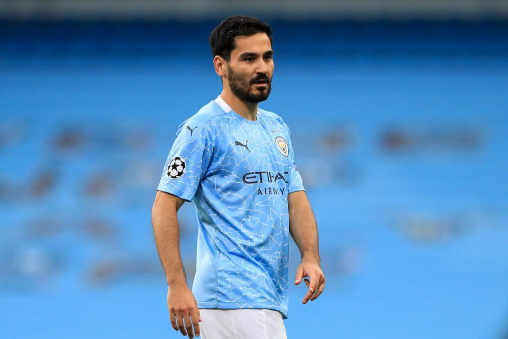 Manchester City midfielder Ilkay Gundogan in action