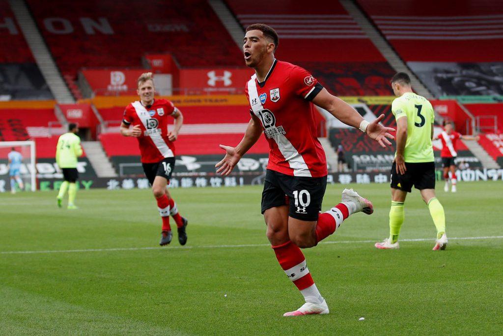 Che Adams celebrates for Southampton